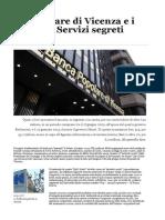 La Popolare Di Vicenza e i Conti Dei Servizi Segreti