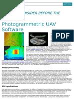 Photogrammetric Uav Software