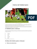8 Dicas de Treino de Futebol Para Crianças