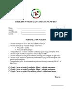 Formulir Pendaftaran Lomba Autocad Jte 6