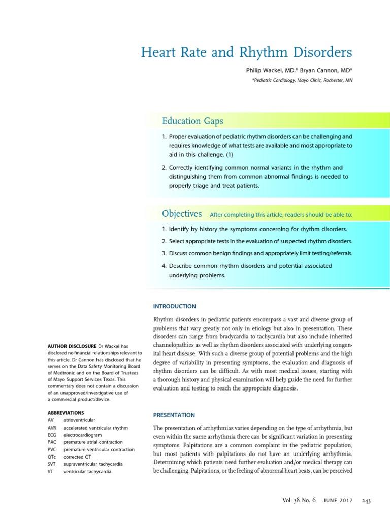 Arritmias Pediatrics (1) | Electrocardiography | Heart