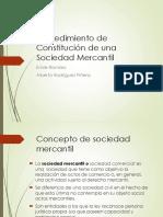 Procedimientos Para La Constitución de Una Sociedad Mercantil