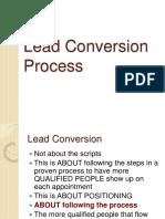 Lead Conversion Process