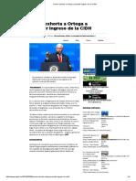 Pence Exhorta a Ortega a Permitir Ingreso de La CIDH
