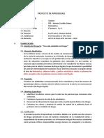 Proyecto de Aprendizaje Matematica Dr