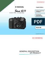 CANON PowerShot G11 - Service Manual
