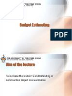 351 Budget Estimating