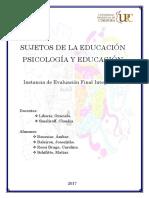 IEFI - Sujetos y Psicologia