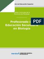 Diseño Curricular Profesorado de Biologia