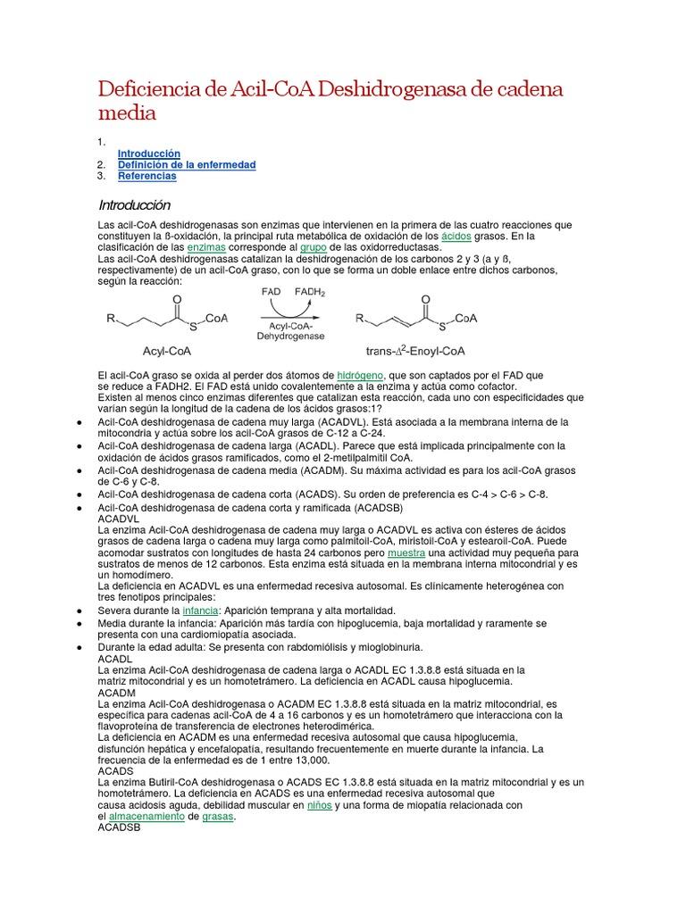 deficiencia de acil coa deshidrogenasa pdf
