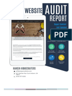 SEO Audit Report for Hansen Home Crafters