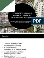 I Jornadas de Derecho Urbano de Ecuador Quito, 21 de julio de 2014