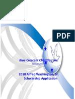2018 Alfred Washington Scholarship Application-Update (1)