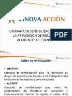 Campaña de Sensibilización Para La Prevención de Riesgos de Accidentes de Tránsito