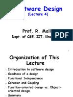 Software Design (Lecture 4)