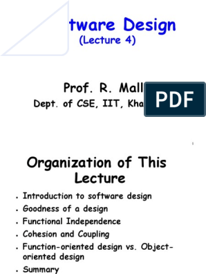 Software Design Lecture 4 Object Computer Science Object Oriented Programming