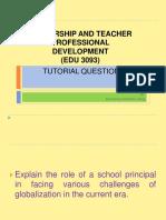 Tuto Leadership Principal