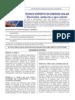 Técnico Experto en Energía Solar