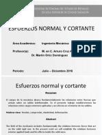 Esfuerzos Normal y Cortante