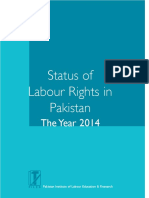 Status Labour Rights in Pakistan the Year 2014