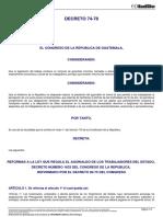 Decreto Del Congreso 74-78 Aguinaldo Sector Publico