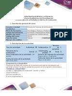 Guía de Actividades y Rúbrica de Evaluación - Tarea 3 - Habilidades de Producción_ Escribir y Hablar