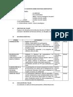 Diseño de Taller Dirigido a Los Docentes Sobre Disciplina Democrática