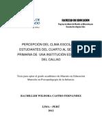 2012_Castro_Percepción Del Clima Escolar en Estudiantes Del Cuarto Al Sexto de Primaria de Una Institución Educativa Del Callao