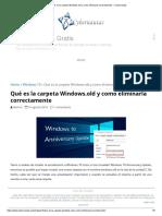 Qué Es La Carpeta Windows old