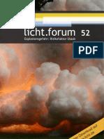 """licht.forum 52 """"Explosionsgefahr"""