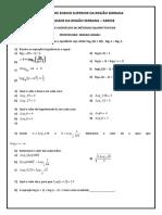 Logaritmo - Lista 1