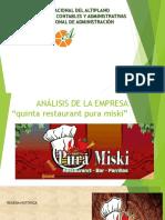 Informe Quinta Restaurant Pura Misky