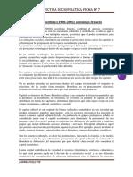 Perspectiva Sociopolitica Ficha n 7 Piere Bourdeau