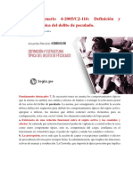 Definición y estructura típica del delito de peculado. Acuerdo Plenario 4.docx