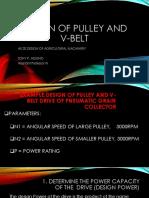 Design of Pulley and v Belt