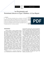 Generalized Severe Periodontitis and Periodontal Abscess in Type 2 Diabetes a Case Report