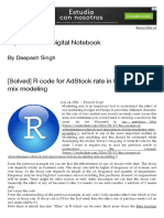 [Solved] R Code for AdStock Rate in Marketing Mix Modeling _ Topbullets - A Digital Notebook