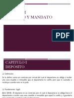 Depósito y Mandato