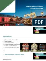 Présentation sur le projet de citation du Quartier Du Musee