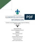 ELEMENTOS SISTEMAS DE A INFORMACIÓN