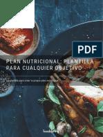 Plan de nutrición Plantilla para cualquier objetivo