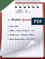Cours de Grammaire II - Pr. Khiri - S2- FPE