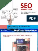 Aula SEO - Arquitetura Da Informação