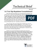 Sign Regulations Tech Brief