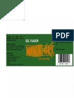 Etiqueta Mega Gel