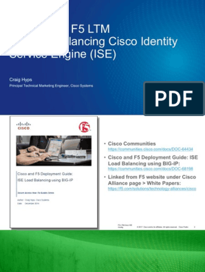 Configuring F5 LTM for Cisco ISE Load Balancing | Port