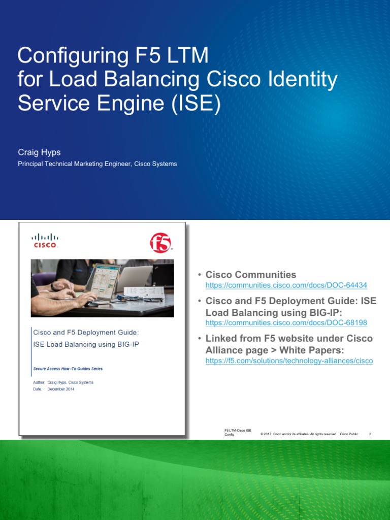 Configuring F5 LTM for Cisco ISE Load Balancing | Port (Computer