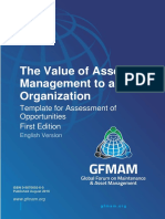 Gfmam the Value of Asset Management Template for Assessment First Edition English Version