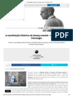 A Constituição Histórica Da Doença Mental - Michel Foucault