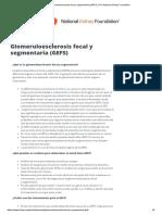 Glomeruloesclerosis focal y segmentaria (GEFS) _ The National Kidney Foundation.pdf